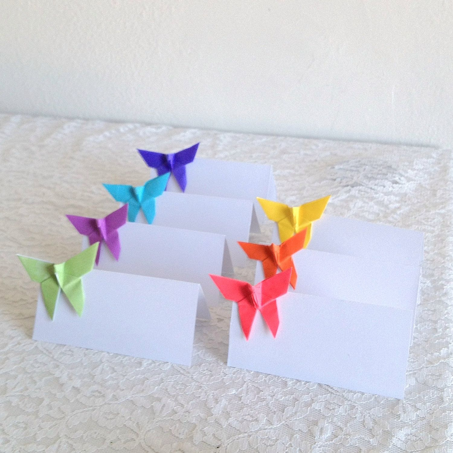 Origami butterfly place cards wedding escort cards by nikkipoparts origami butterfly place cards wedding escort cards by nikkipoparts 2200 jeuxipadfo Choice Image