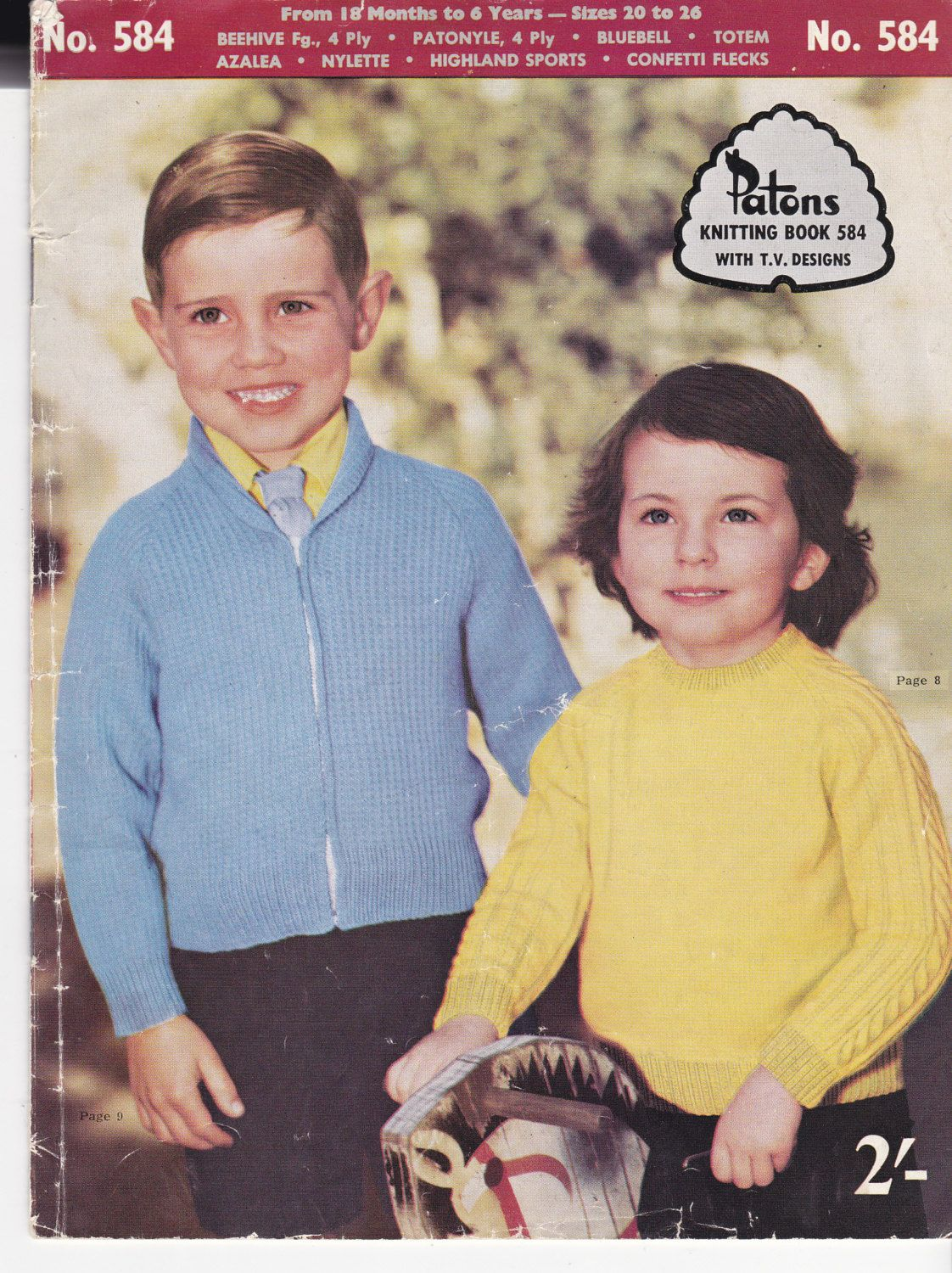 Paton\'s Knitting Pattern No 584 For Children Boys and Girls Aged ...