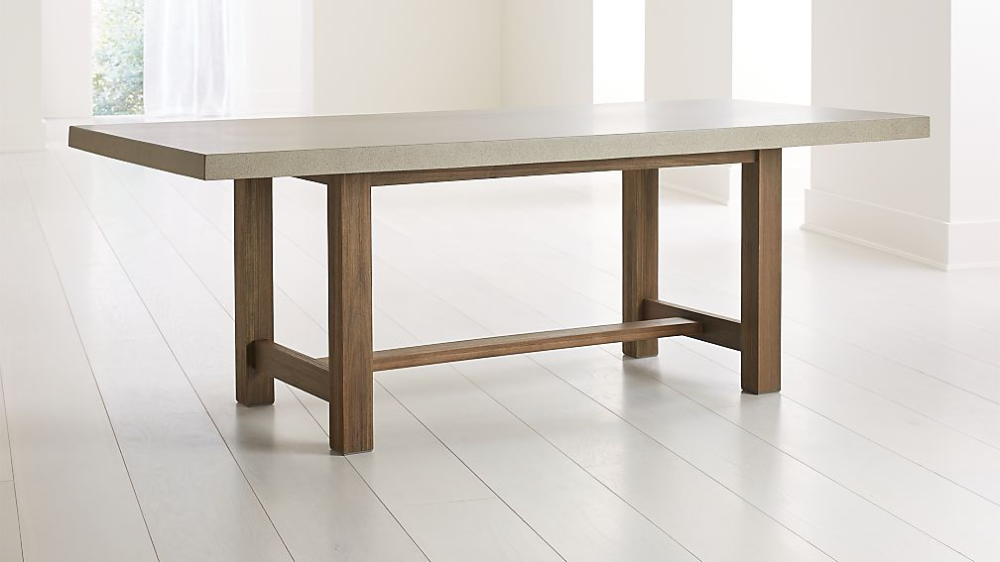 Caicos Cement Top Dining Table Concrete Top Dining Table Dining