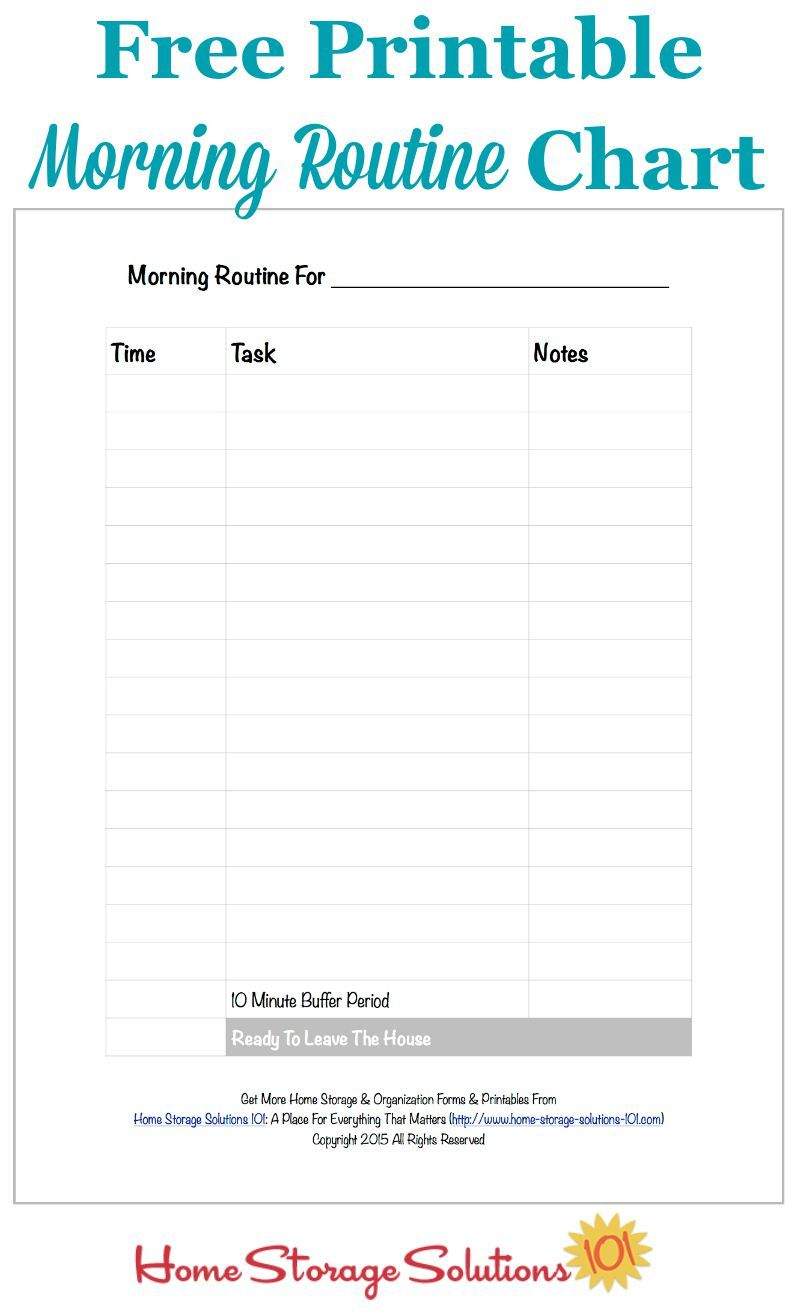 This is an image of Dynamite Free Printable Morning Routine Charts With Pictures