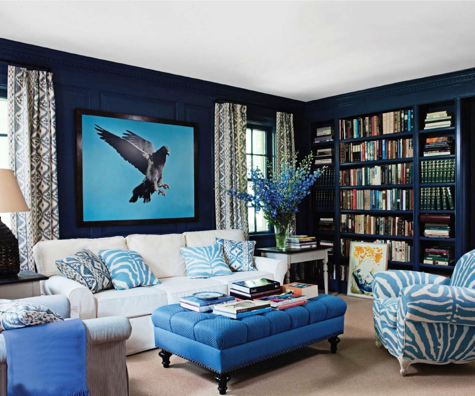 Simply Stoked Bright Bold Living Rooms  For The Home Pleasing Blue Color Living Room Designs Design Ideas
