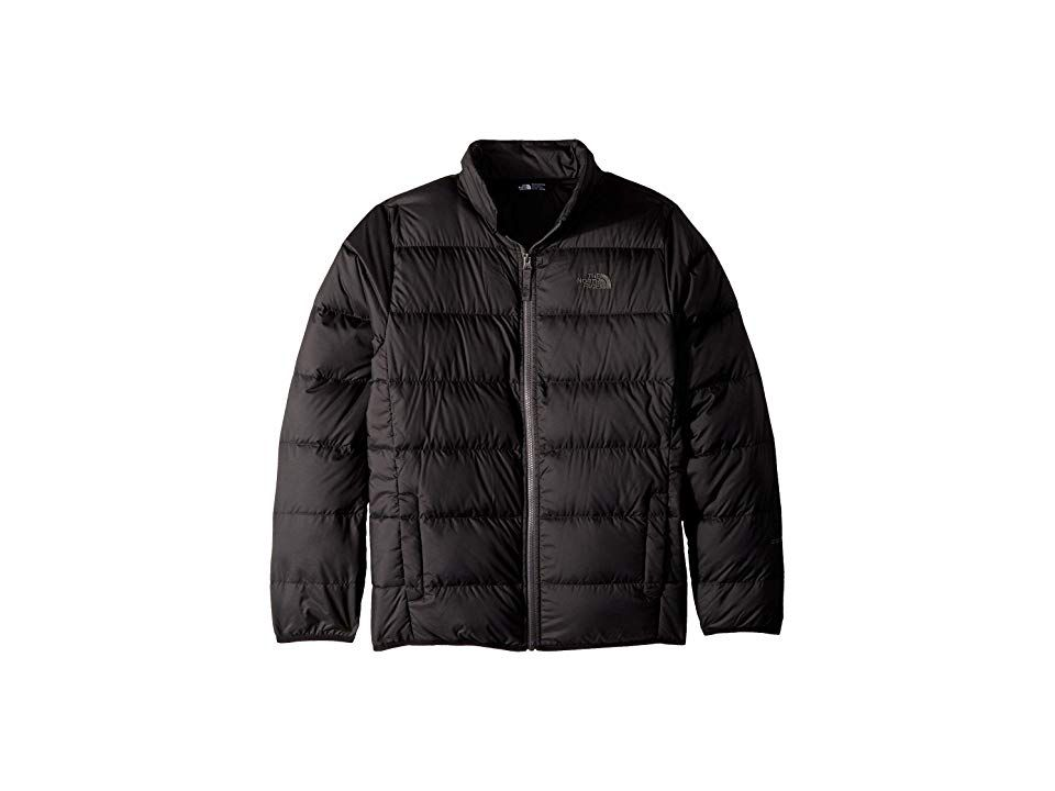 b36f3eef0 The North Face Kids Andes Jacket (Little Kids/Big Kids) (TNF Black/Graphite  Grey) Boy's Coat. He'll be warm and cozy no matter where you travel in The  North ...