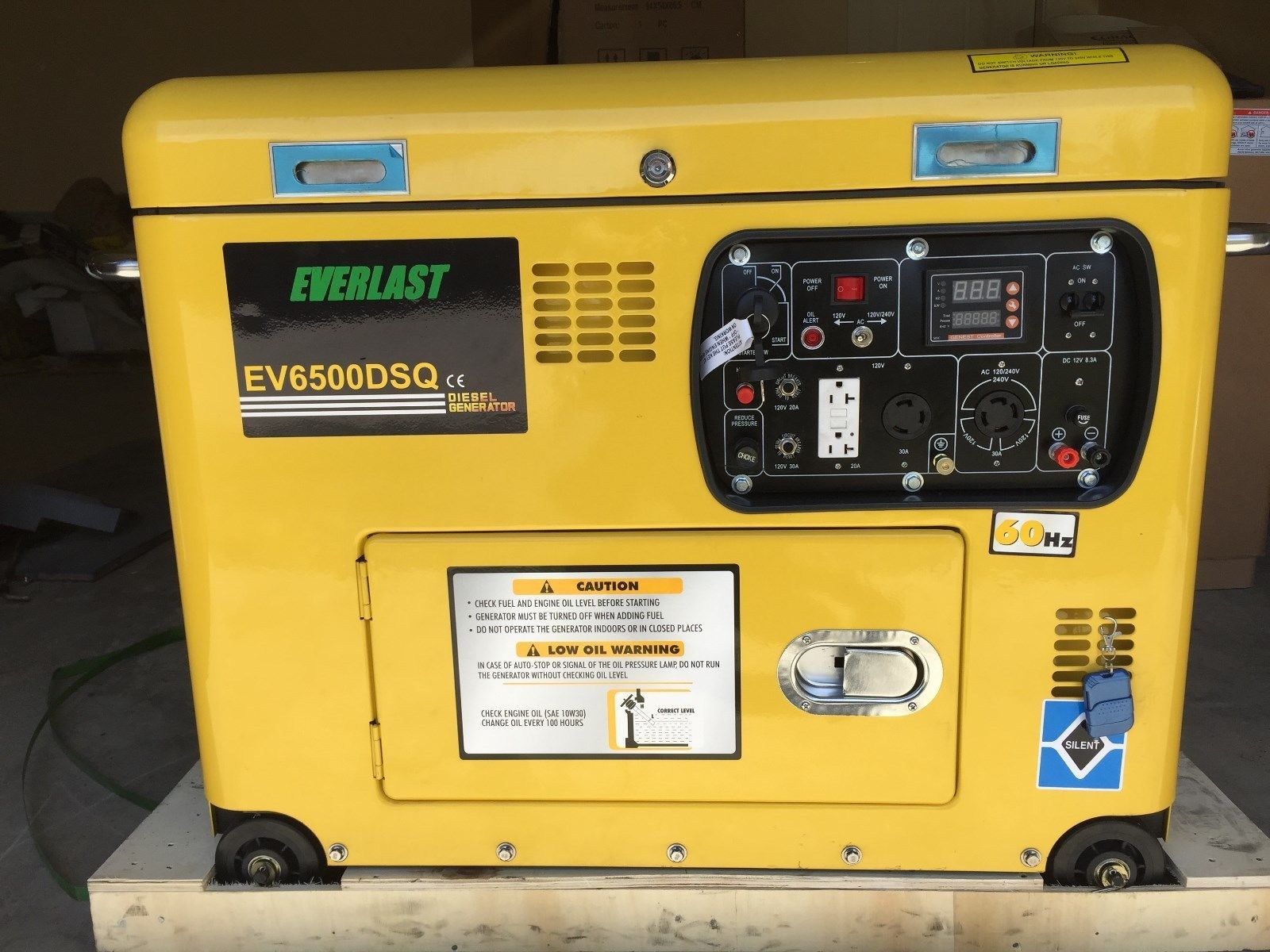 "NEW 2017 Portable Super Quiet DIESEL Generator ""Open Top"" 6 5KW"