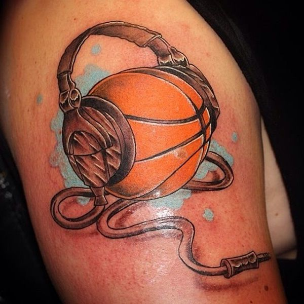 40 Basketball Tattoo Designs And Ideas For Men Basketball