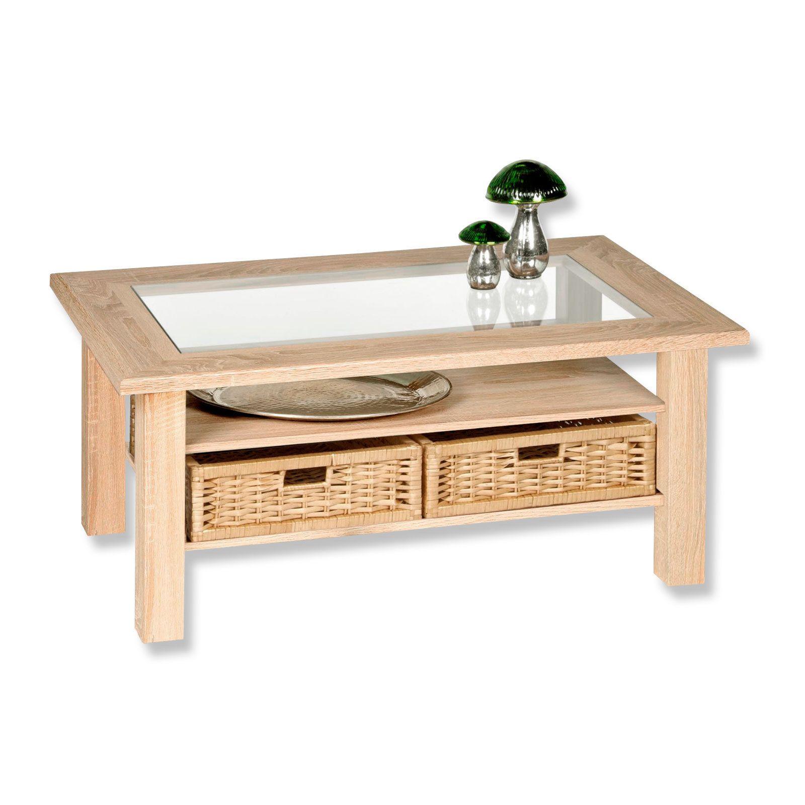 Couchtisch Steffi Sonoma Eiche Mit Glaseinlage Couchtische Tische Wohnzimmer Wohnbereiche Couchtisch Sonoma Eiche Roller Couchtisch