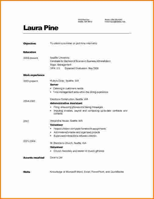Example Simple Filipino Resumemple Resume Format Builder Examples