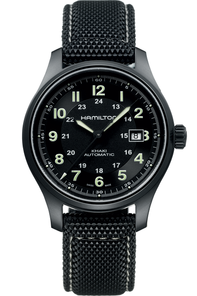 Introducing the Hamilton Khaki Field Titanium watch, a timepiece coming in a 42mm titanium case.