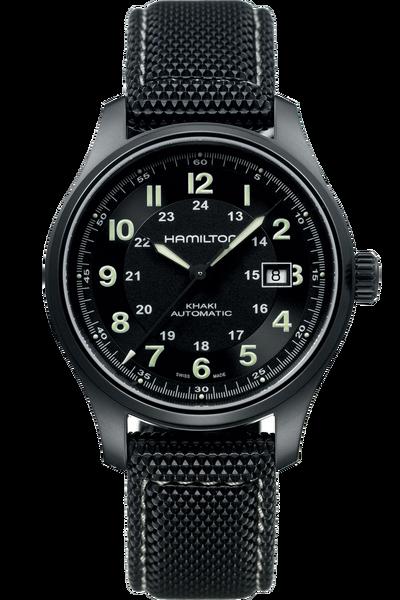Introducing the Hamilton Khaki Field Titanium watch, a timepiece coming in a 42mm titanium case.