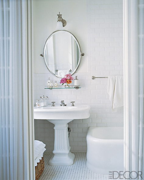 Randall Ridless Beautiful Chic Bathroom Design With White