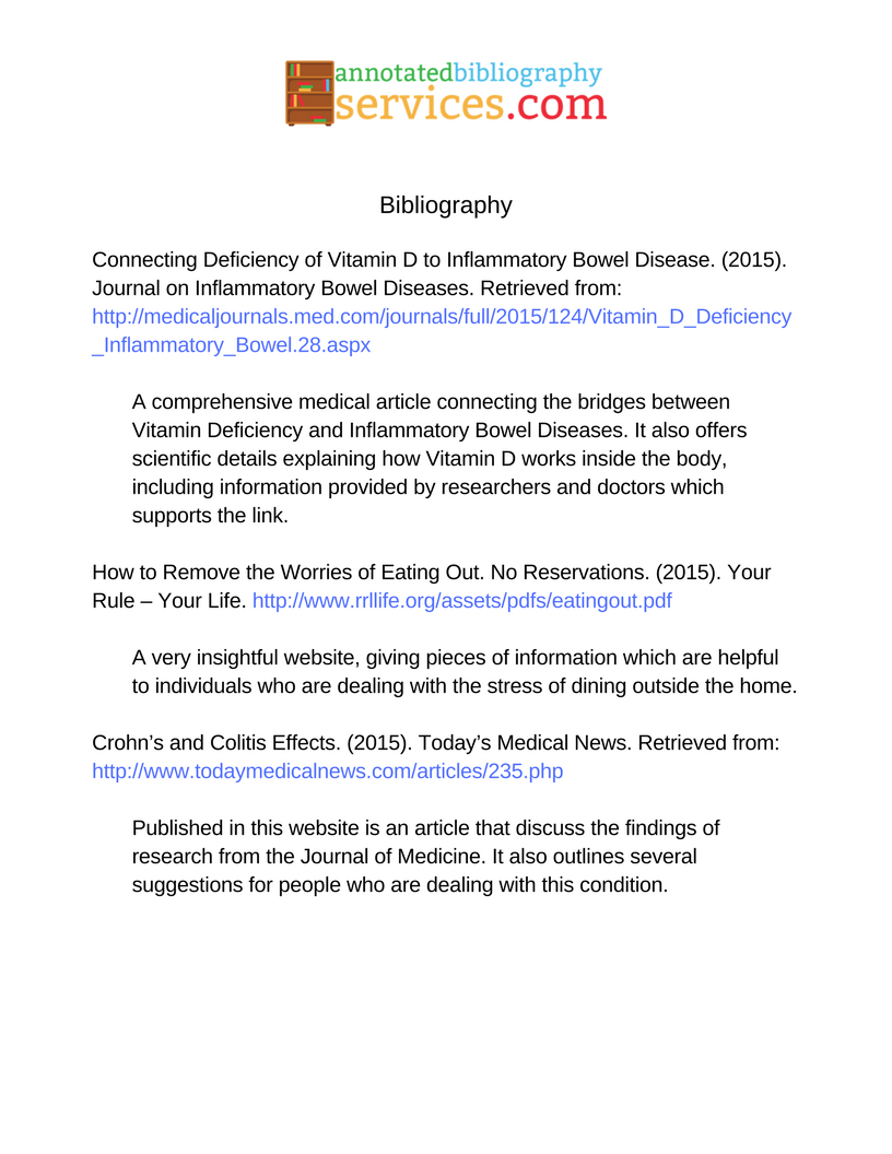 Annotated Bibliography Website Sample Mla Formatg 8161056