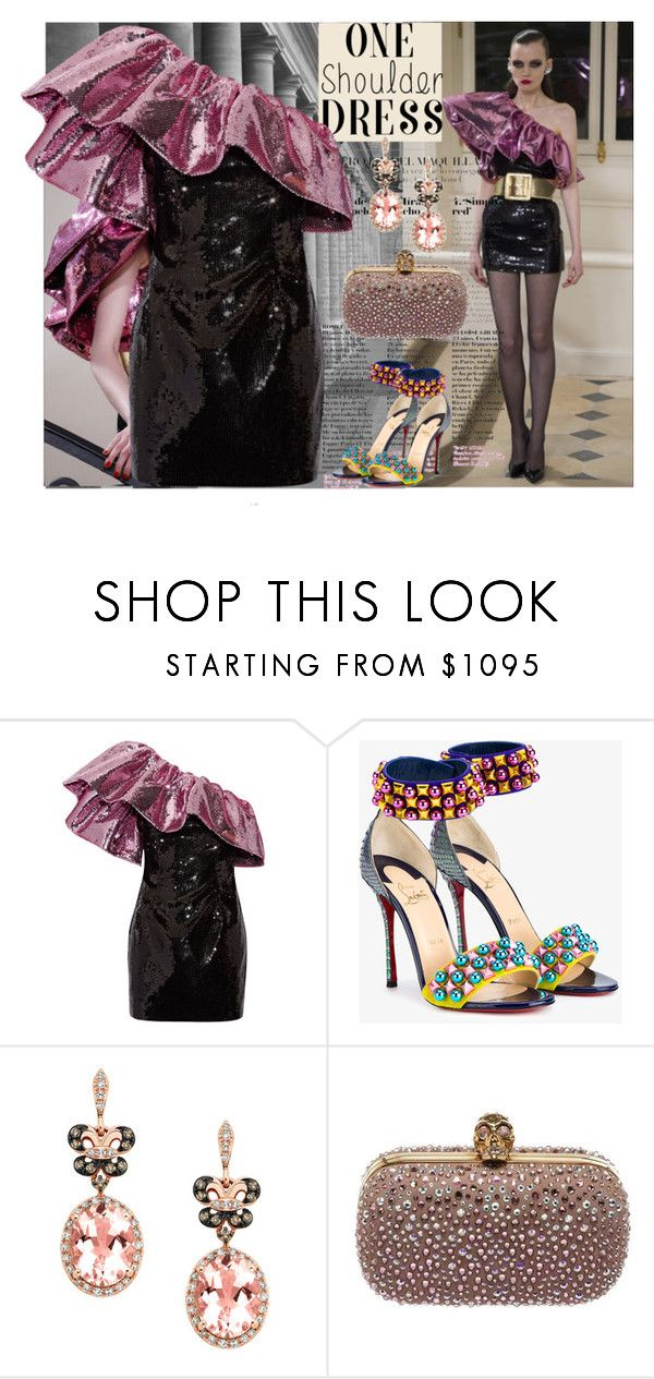 """Untitled #947"" by thenycbaglady ❤ liked on Polyvore featuring Yves Saint Laurent, Christian Louboutin, Effy Jewelry and Alexander McQueen"