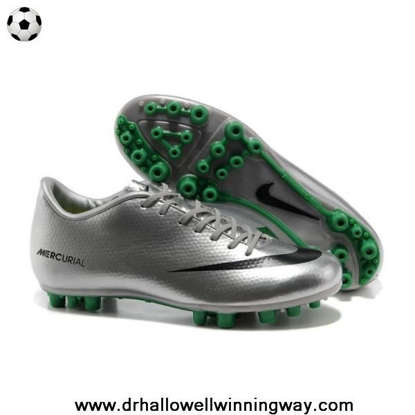 New Silver Green Black Nike Mercurial Vapor IX AG