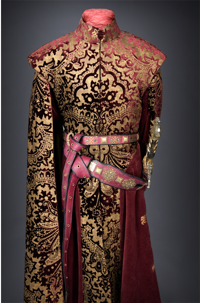 Joffrey -game of thrones. Hated him but LOVED the fabric used for his clothing.