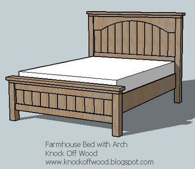 Farmhouse Bed With Arch With Images Diy Farmhouse Bed