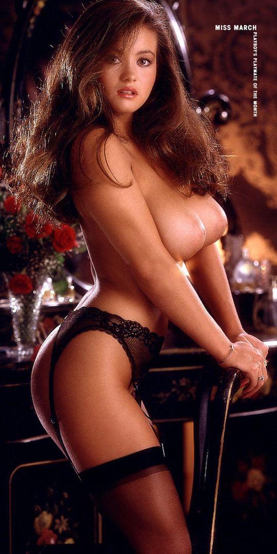 Playboy lingerie stockings brunettes