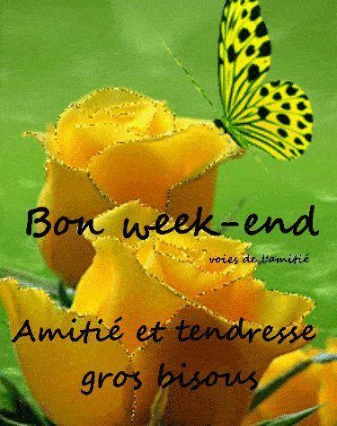 Bon week-end image #7595 - Bon week-end Amitié et tendresse, gros bisous -  Partager cette photo sur Facebo… | Bon week end image, Bon weekend, Belles  photos d'amour