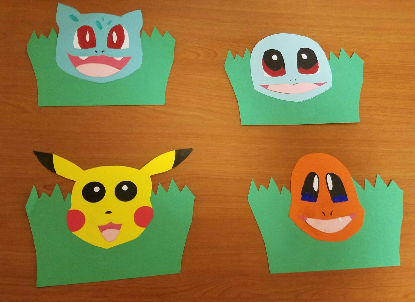 Pokemon Starter Door Decs Pickachu Bulbasuar Charmander Squirtle Pokemon Starters Pokemon Charmander