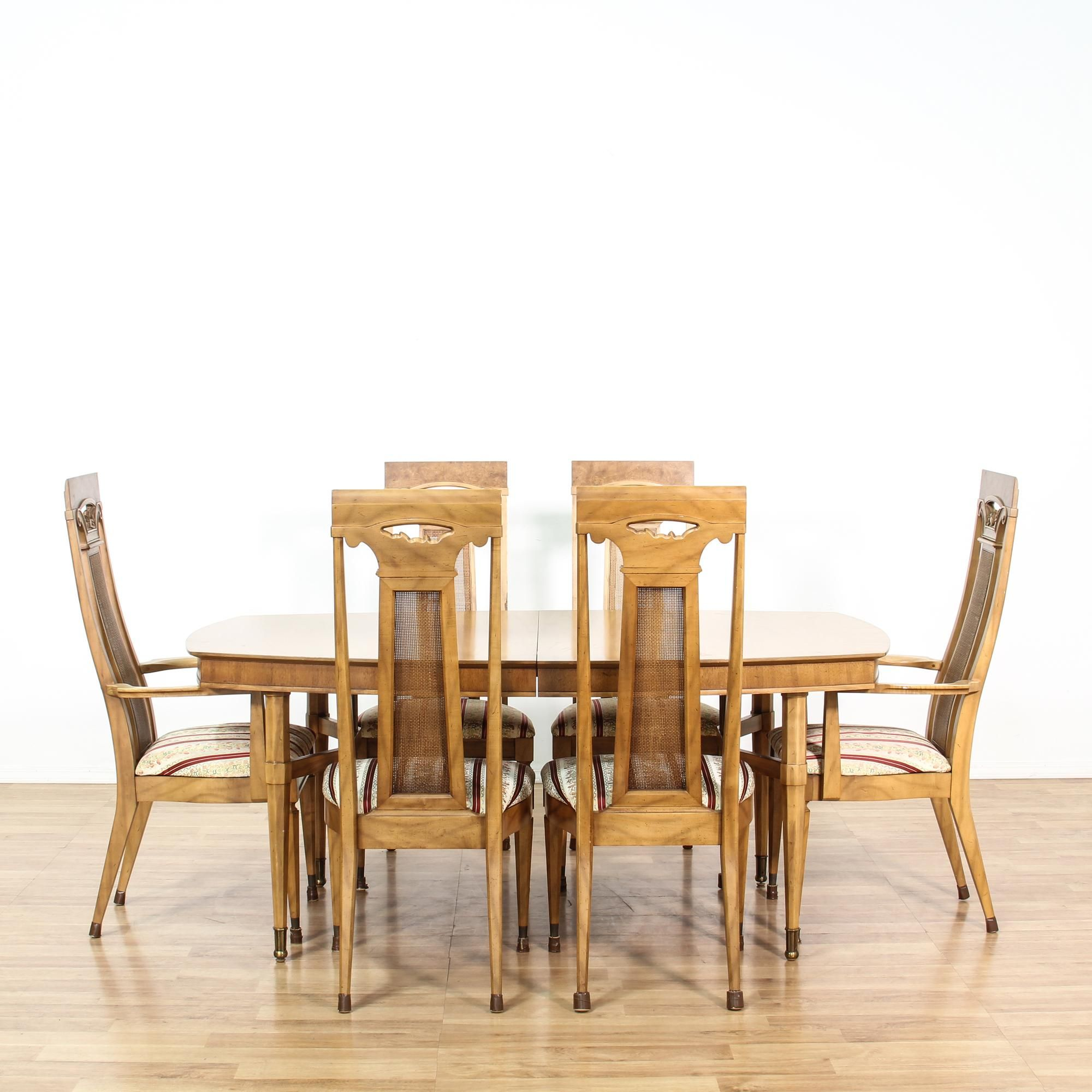 mid century pecan table & set of 6 chairs | pecan wood, pecans and