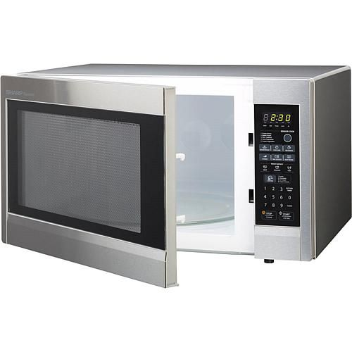 Carousel 2 2 Cu Ft 1200w Countertop Microwave Oven Stainless