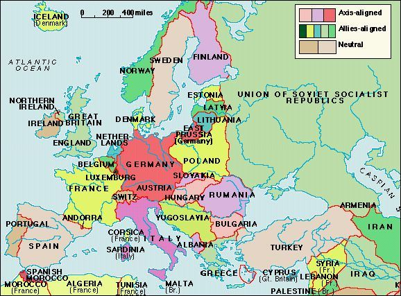 Europe on the Eve of World War II, 1939 | Maps | World war two, Map ...