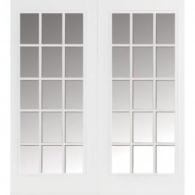 Masonite 60 in. x 80 in. Willow Wood Prehung Right-Hand ...