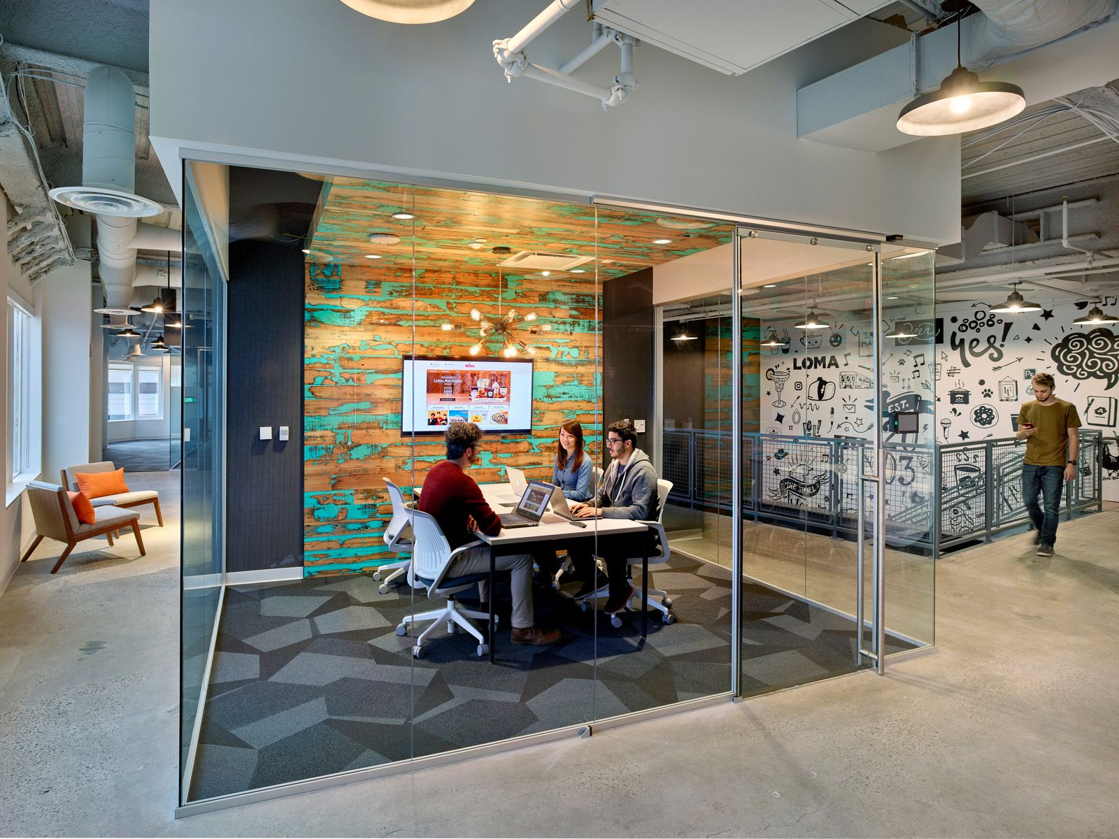Bounteous Offices Wilmington Office Snapshots Workplace Design Interior Spaces Secret Rooms