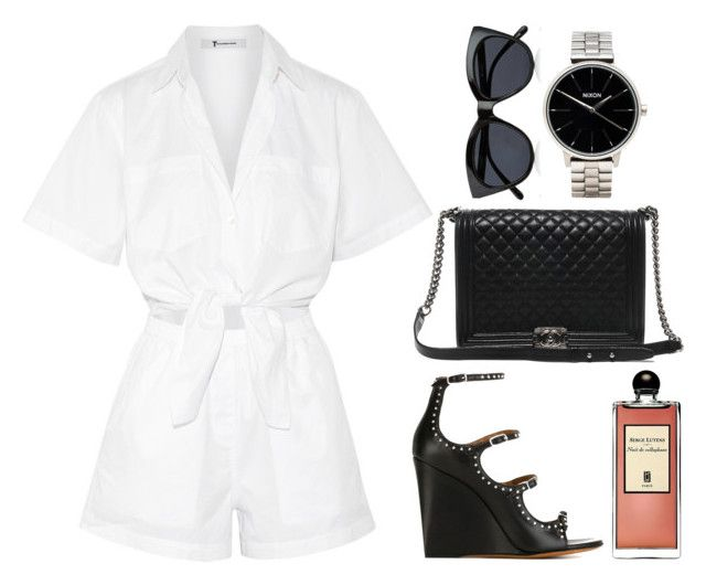 """""""Untitled #189"""" by anasimoes99 ❤ liked on Polyvore featuring T By Alexander Wang, Givenchy, Le Specs, Chanel, Nixon and Serge Lutens"""