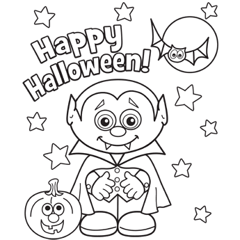 Free Coloring Pages Vampire Tips