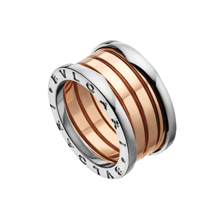 With The Entrancing Curves Of Its Rose And White Gold Spiral The B Zero1 Ring Reflects The Power Of A Boundless S Bvlgari Jewelry Bulgari Jewelry Bvlgari Ring