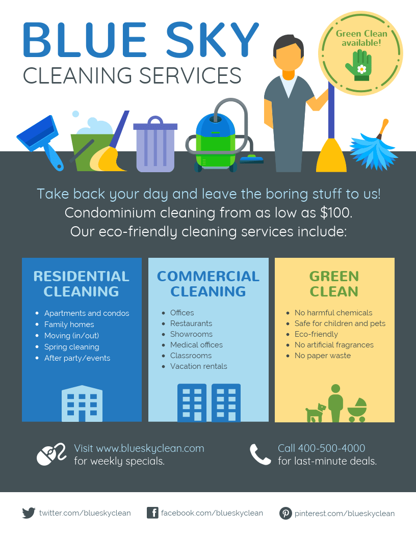 Cleaning Service Flyer Commercial cleaning services