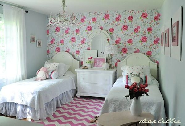 Unique Kids Shared Nightstand Ideas Shared Girls Room Little Girl Rooms Pretty Bedroom Lola almost finished new room