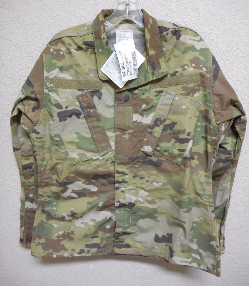 Scorpion Ocp Insect Guard Army Combat Uniform Coat Small Short Nwt Army Combat Uniform Army Uniform Military Uniform