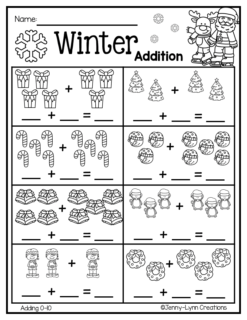December Pre K Math Literacy Kindergarten Subtraction Worksheets Kindergarten Math Worksheets Math Subtraction Worksheets