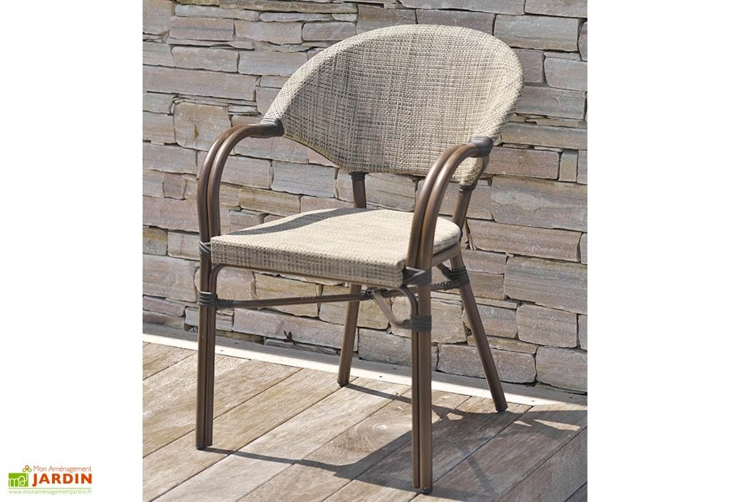 Chaise de Jardin Aluminium et Textilène Empilable | Mobilier ...