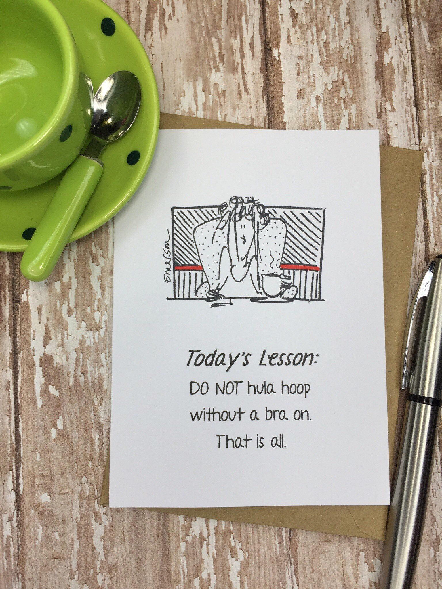 FUNNY card for any occasion inside message can be
