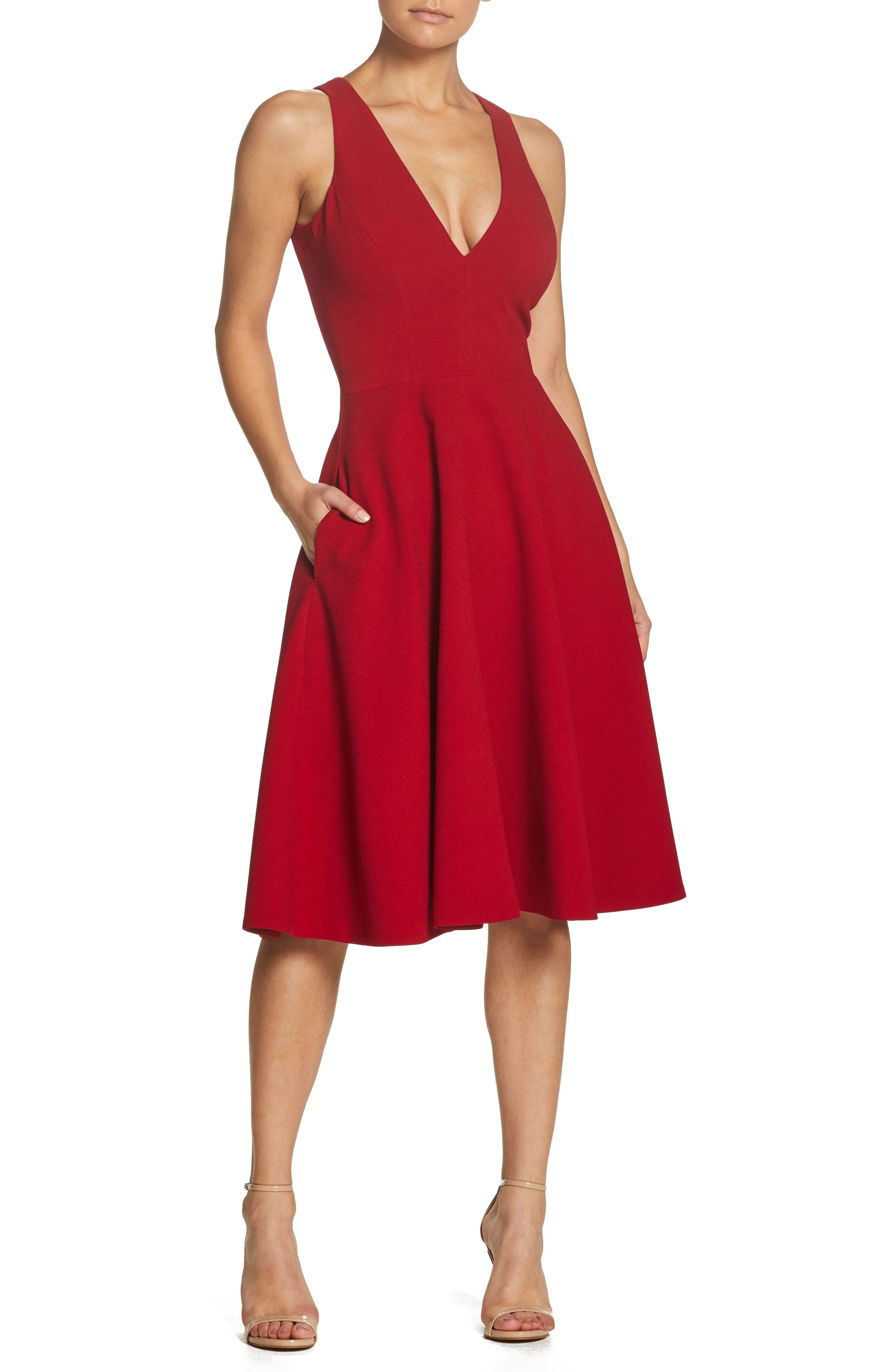 Dress The Population Catalina Fit Flare Cocktail Dress Nordstrom Cocktail Dress Classy Red Dresses Classy Fit And Flare Cocktail Dress [ 4048 x 2640 Pixel ]