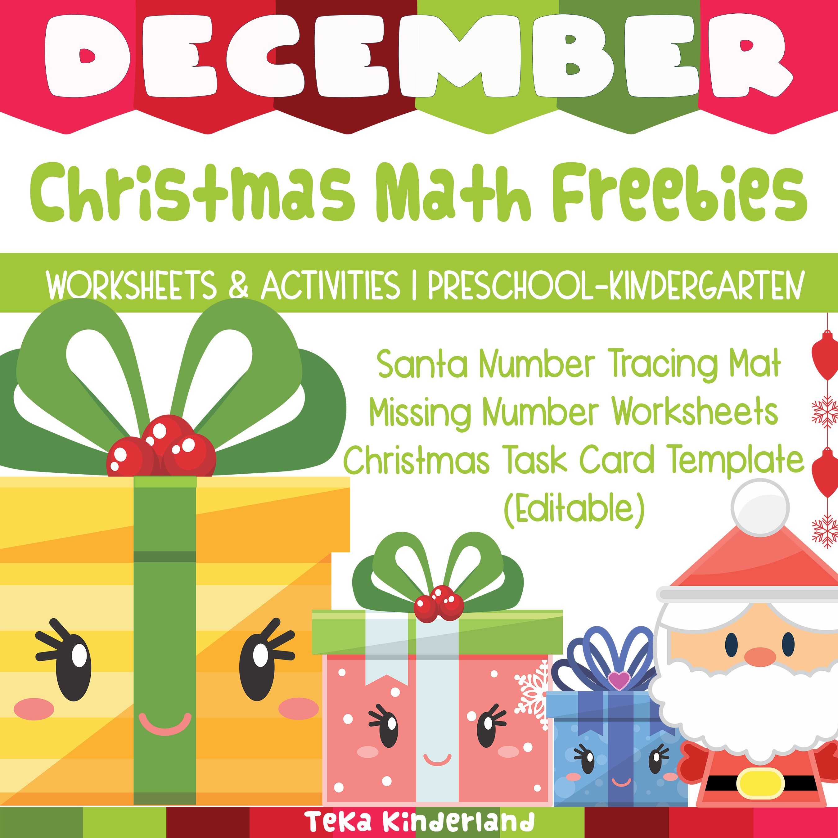Free Christmas Math Activities