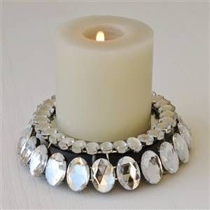 Jewelled candle plate | Bliss and Bloom Ltd