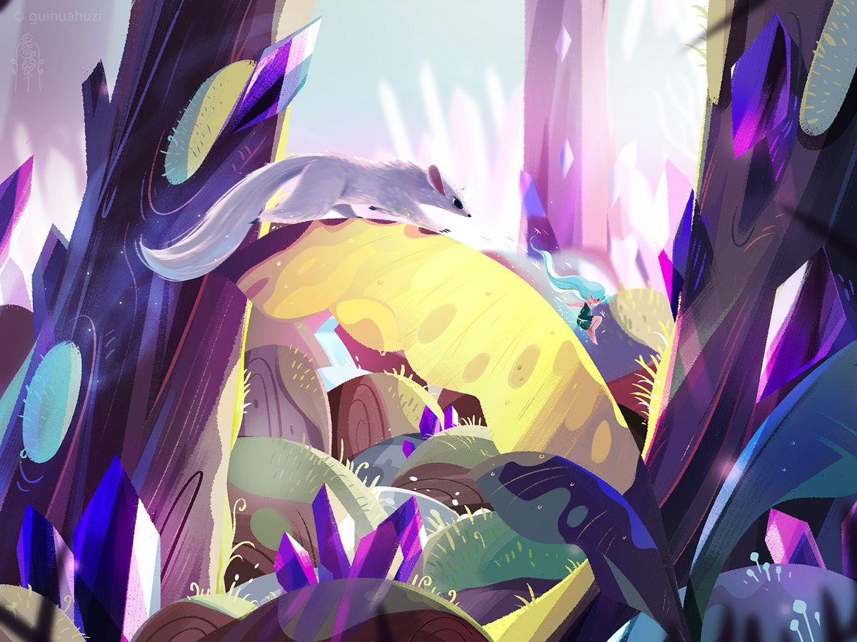 发光的树 on Behance Character illustration, Illustration, Anime