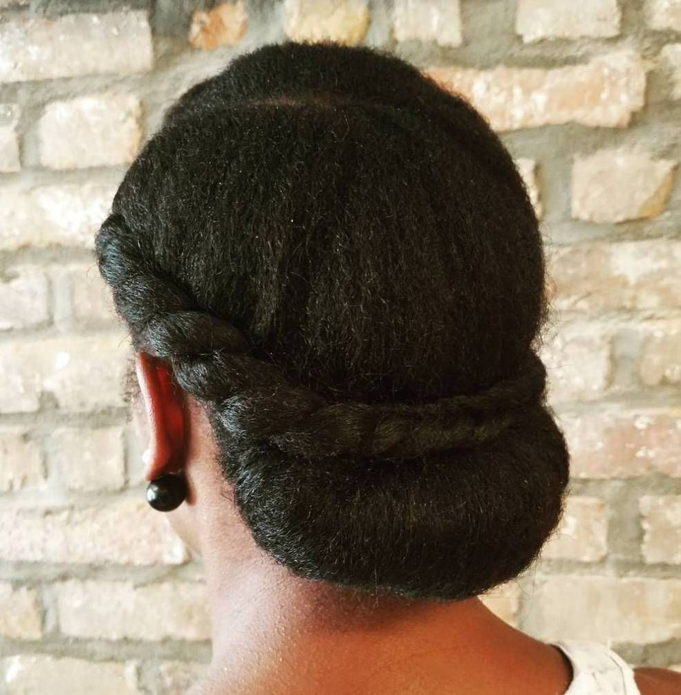 Chignon For Natural Hair naturalhairstyles Natural Hair