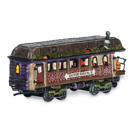 Department 56 Snow Village Halloween Haunted Rails Dining Car - decorate your car for halloween