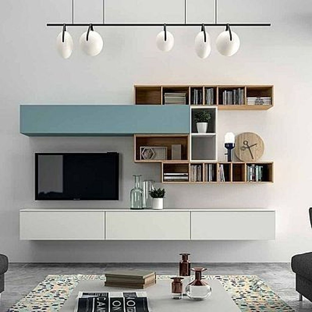 20 Unordinary Tv Stand Design Ideas For Small Living Room Coodecor Living Room Tv Unit Living Room Tv Wall Living Room Modern