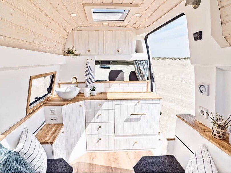 "Photo of Van Boy Life on Instagram: ""• Congratulations to Anna and Daniel on this beautiful van conversion. Seven months of hard work have well and truly paid off here🤙🏻 . 🚐 VW…"""