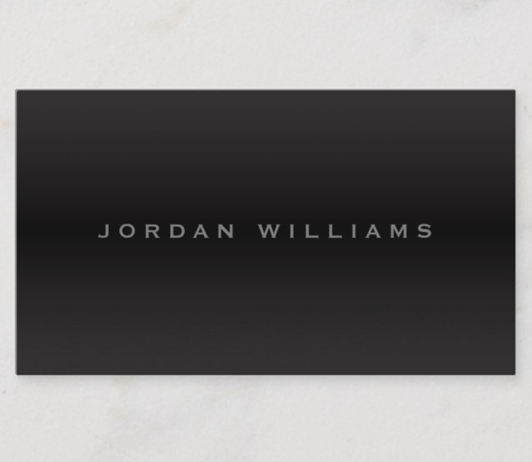 Sophisticated Dark Gradient Professional Minimal Business Card Zazzle Com Minimal Business Card Business Cards Elegant Elegant Business Cards