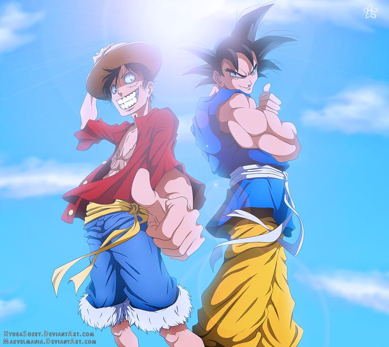 Goku And Luffy By Hyugasosby