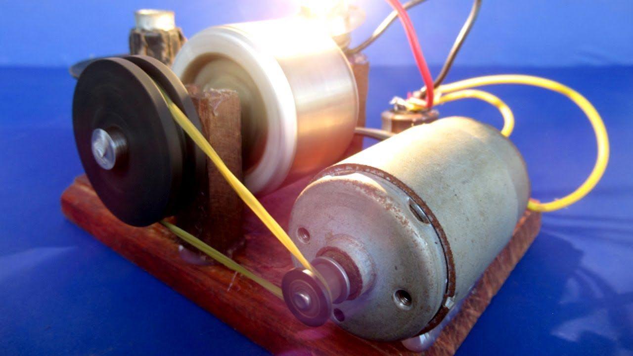 Фото сделать генератор из двигателя от магнитофона