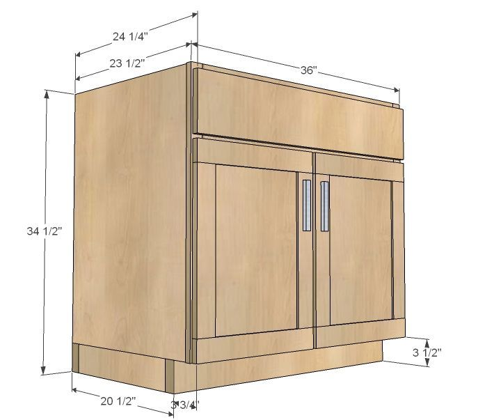 Diy Kitchen Cabinet Plans: Build A Kitchen Cabinet Sink Base 36 Full