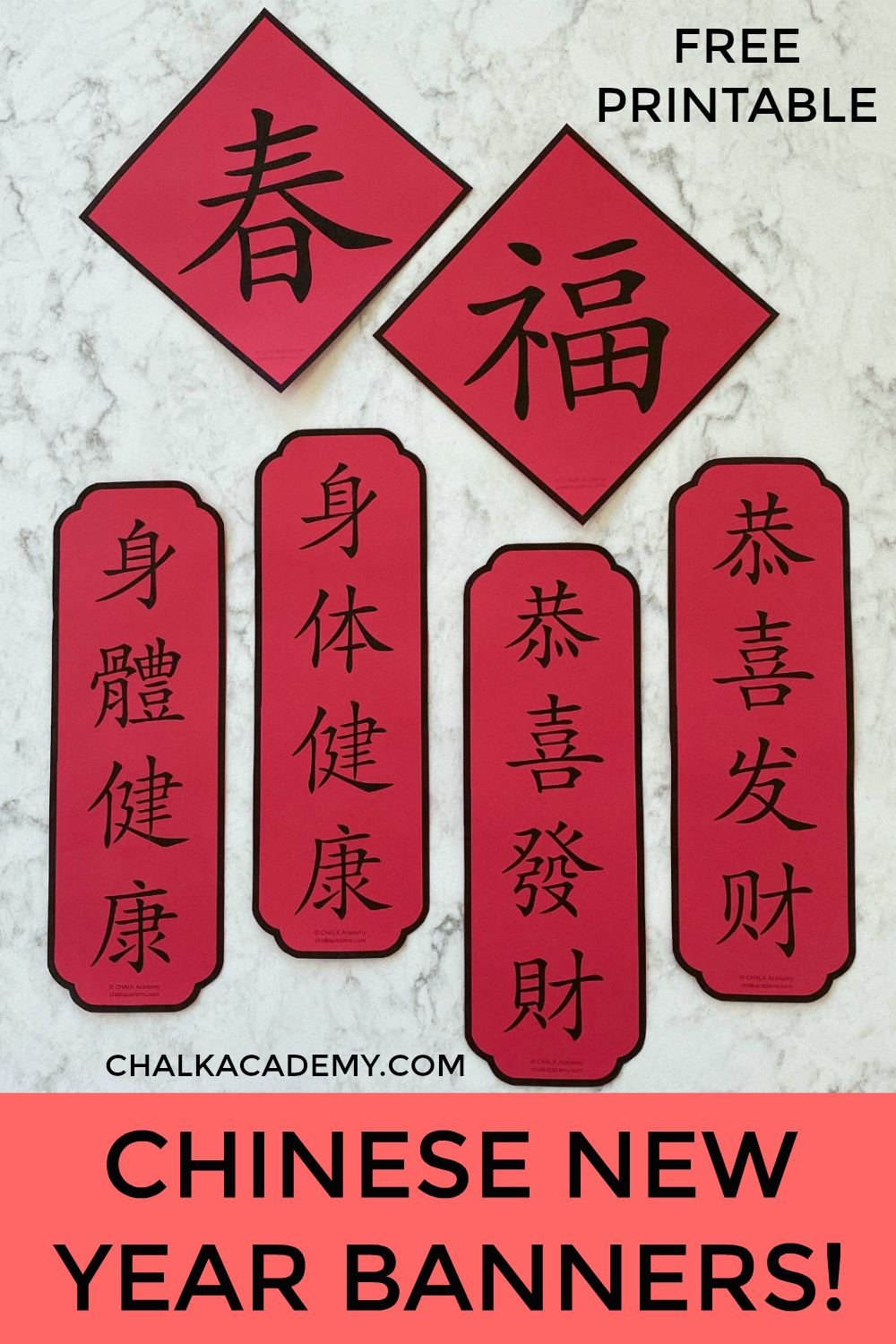 Chinese New Year Banners Simplified And Traditional Chinese In 2020 New Year Banner Chinese New Year Crafts Chinese