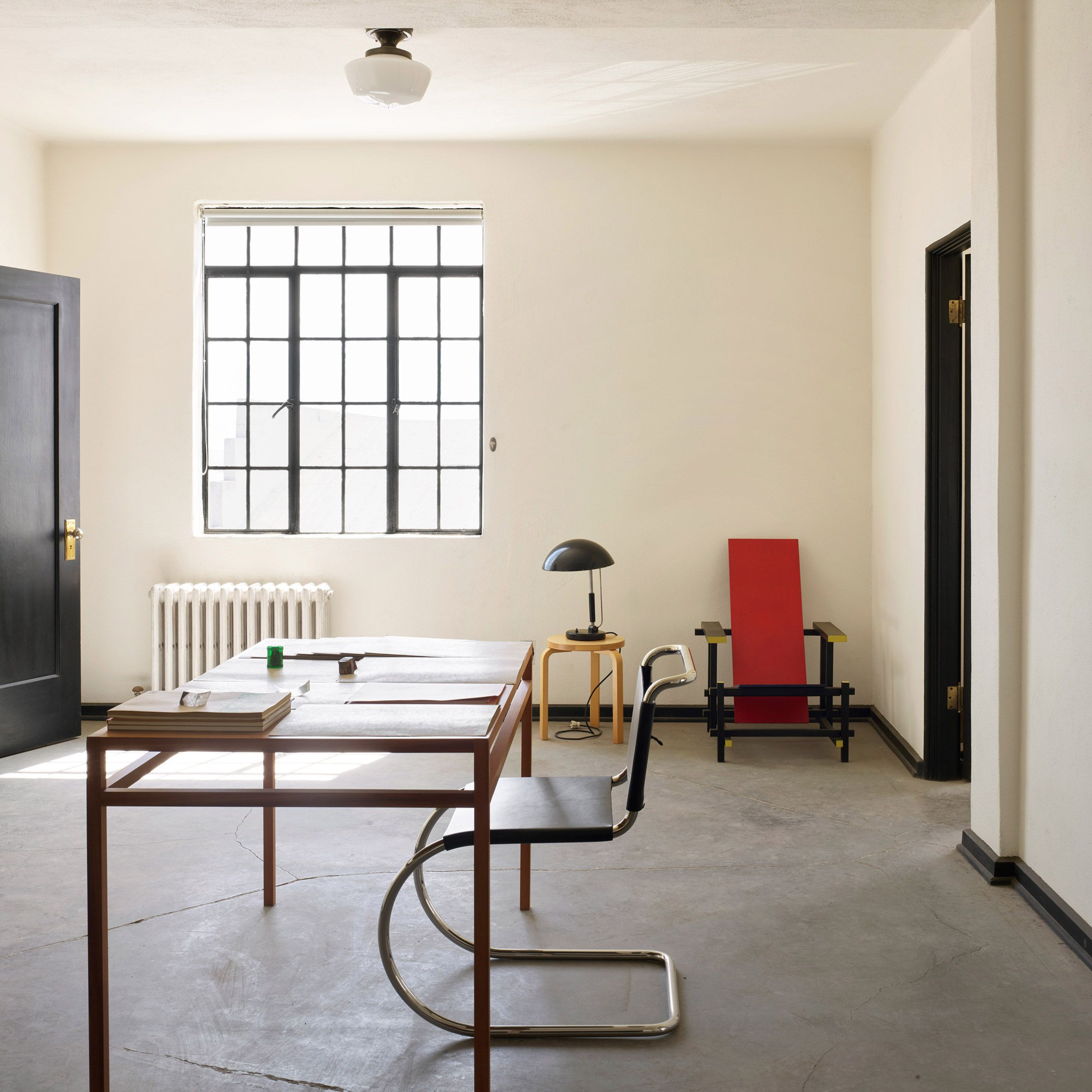 Donald Judd S Marfa Studio Featuring A Drafting Desk And