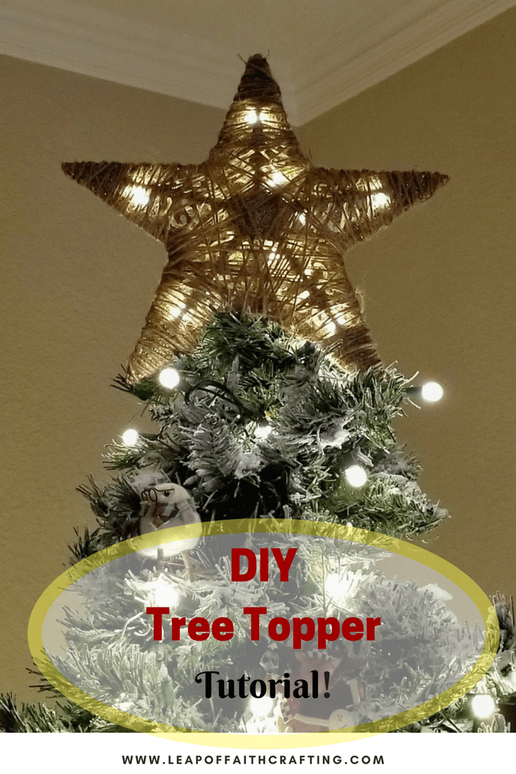 Diy tree topper from dollar tree items diy tree topper tree want an easy and cheap diy tree topper grab a dollar tree star and wrap some twine around it youve got yourself a rustic tree topper solutioingenieria Choice Image